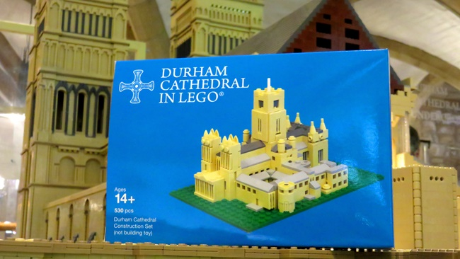 Mini LEGO model returns to Durham Cathedral Shop