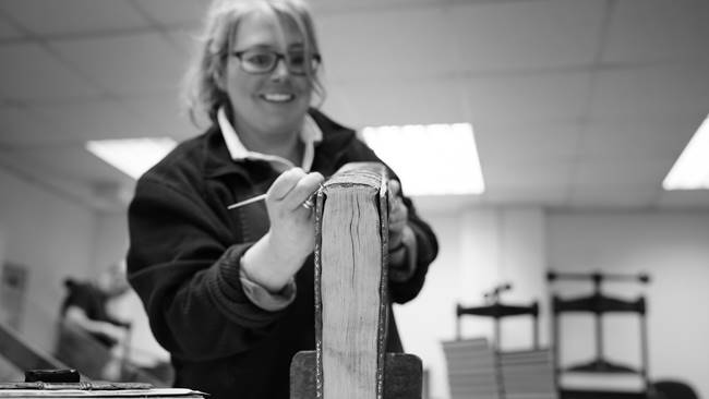 Durham Cathedral Blog - Behind the Scenes at a Scottish Book Bindery