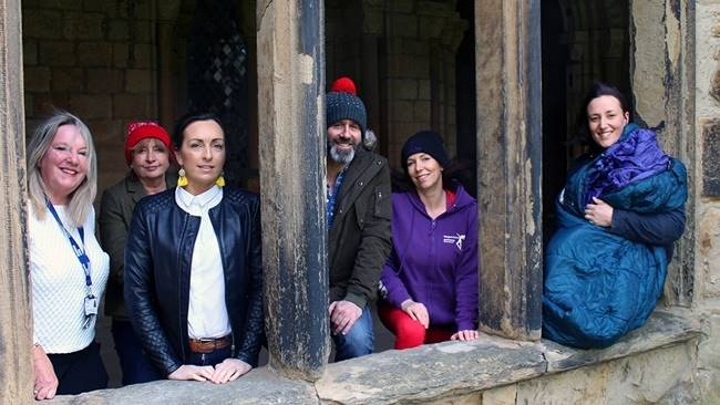 Bishop of Durham, Dean of Durham and Business Leaders from the region take part in CEO Sleepout at Durham Cathedral