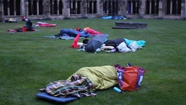 Success as CEO Sleepout at Durham Cathedral raises awareness of homelessness in the North East