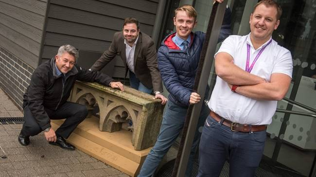 Unique piece of Durham Cathedral takes pride of place at Learning Curve Group HQ