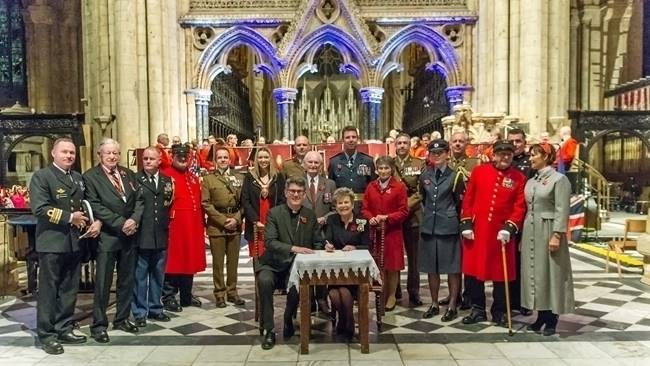 Durham Cathedral sign Armed Forces Covenant over Remembrance Weekend