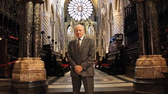 Local schoolchildren gather at Durham Cathedral to hear the harrowing testimony of Holocaust survivor on Holocaust Memorial Day