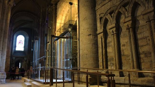 Durham Cathedral's new glazed lobbies are revealed as north and south doors reopen to the public