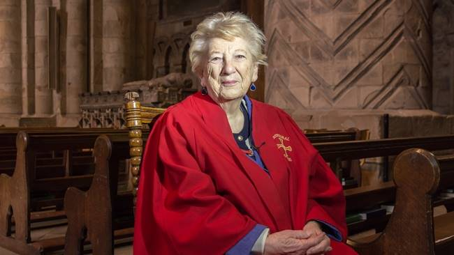 Durham Cathedral guide in her 90s masters Facebook to embrace online worship