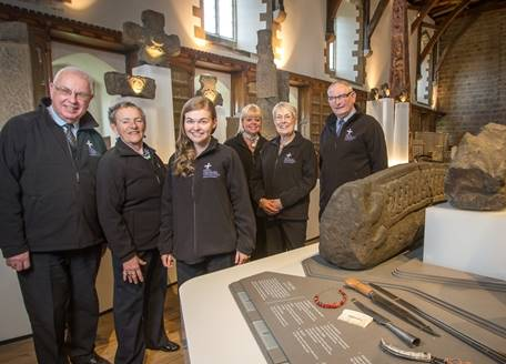 A group of volunteers in the Open Treasure exhibition
