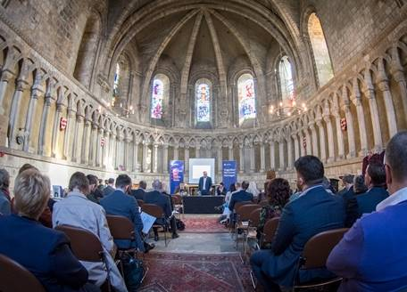 A conference in the Chapter House