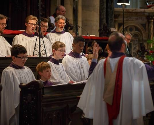 Choir at Evensong