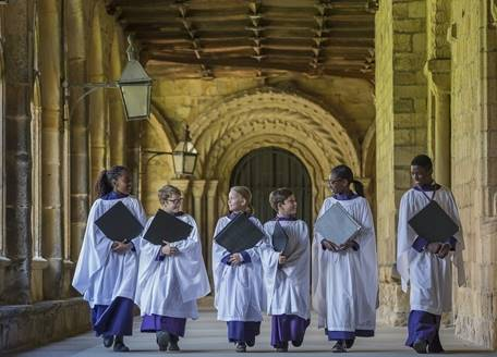 Choristers in the Cloister