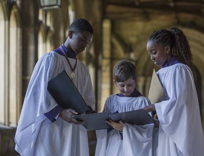 Choristers in the Cloisters