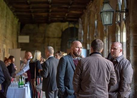A private reception in the Cloister of Durham Cathedral