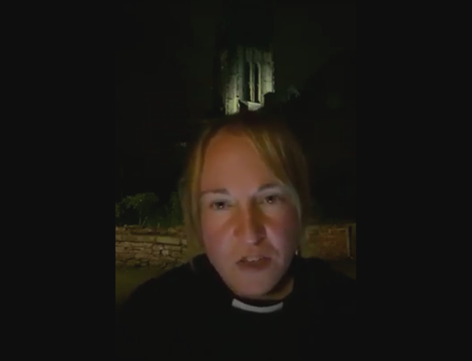 Canon Charlie Allen addresses a livestream