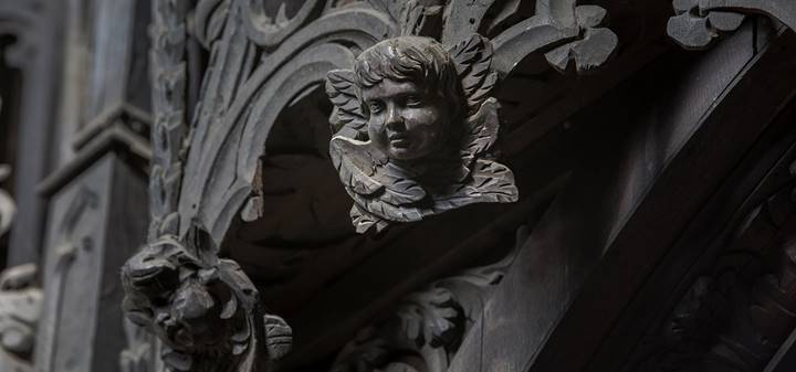 Detail of carving on quire stalls