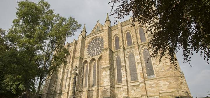 Durham Cathedral - the Rose window from the outside