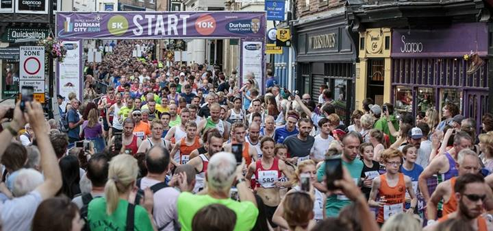 Hundreds of runners take part in the Durham City Run