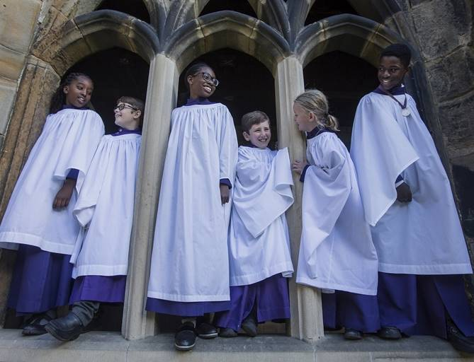 Group of Choristers in the Cloisters