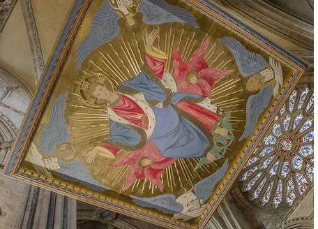 Image of Christ above the Shrine of St Cuthbert