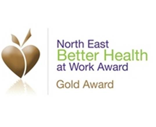 North East Better Health at Work Award - Gold Award