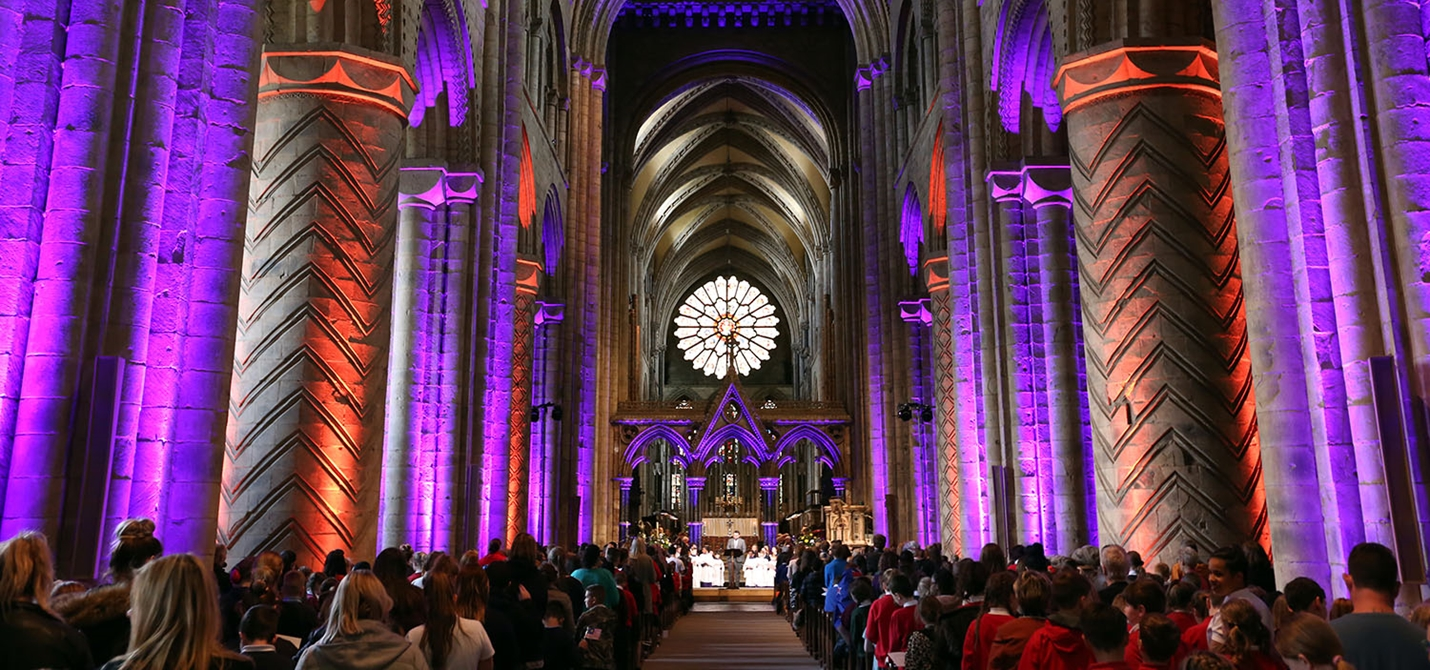 Event in the nave of Durham Cathedral