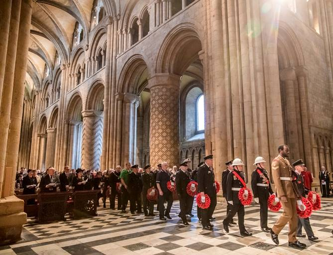 A previous Remembrance Sunday service at Durham Cathedral