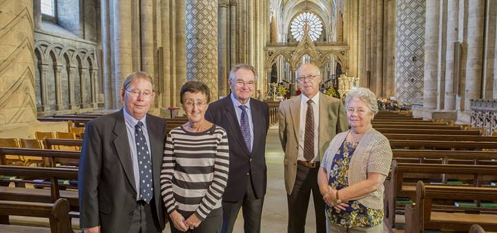 some of the Friends of Durham Cathedral committee members
