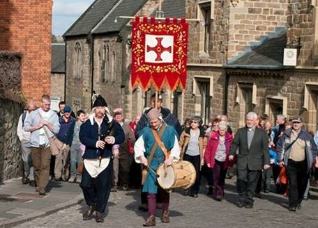 St Cuthbert banner procession