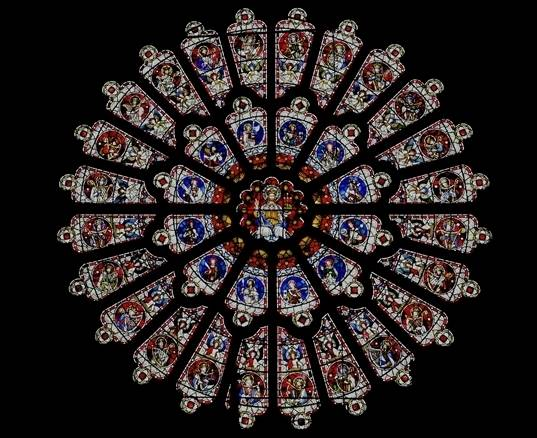 The eighteenth-century Rose window