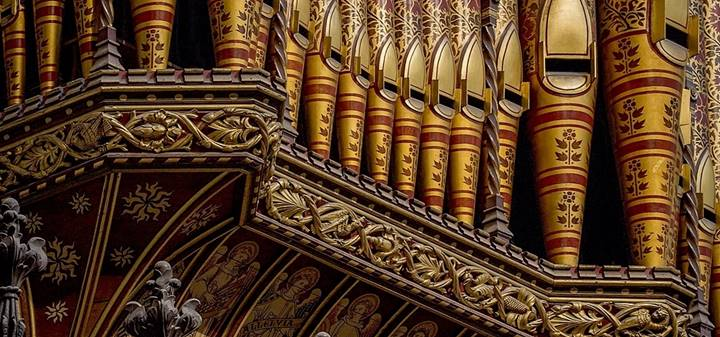 The pipes of the organ in the Quire