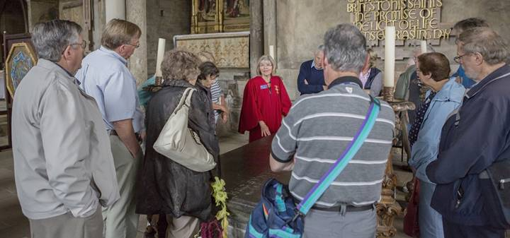 Tour for a large group in Galilee Chapel