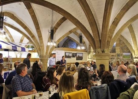 An event in the undercroft restaurant