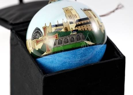 Durham Cathedral Glass Bauble