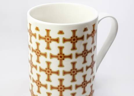 St Cuthbert's Cross China Mug