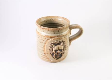 Sanctuary Knocker Stoneware Clay Mug