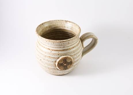 Saint Cuthbert's Cross Stoneware Clay Mug