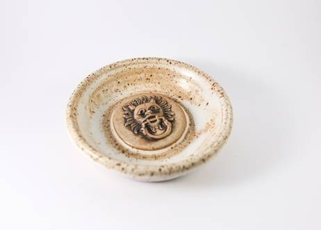 Sanctuary Knocker Stoneware Clay Dish