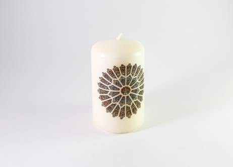 Durham Rose Window Mini Pillar Candle
