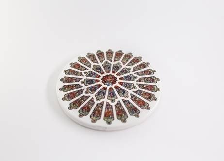 Durham Rose Window Ceramic Coaster
